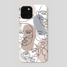Faces - Phone Case by Ana Brezovec