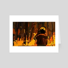 Volunteer Firefighter 5 - Art Card by Jordan de Graaf