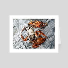 Steamed In Maryland - Art Card by Richard Correale
