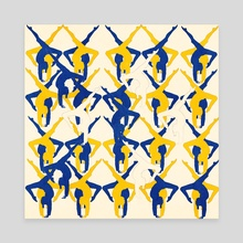 A pattern of a dancing body - Canvas by Michal Eyal