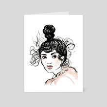 Top Knot - Art Card by Gina Schiappacasse