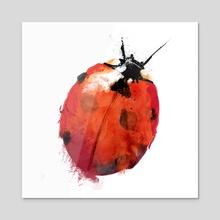 Ladybird - Acrylic by Greg Araszewski