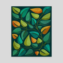 Retro Tropical Flora II - Canvas by Modern Tropical