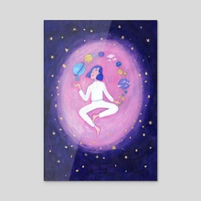 Goddess of the Universe - Acrylic by Normandie Luscher