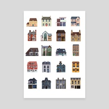 Houses - Canvas by Kirsten Shiel
