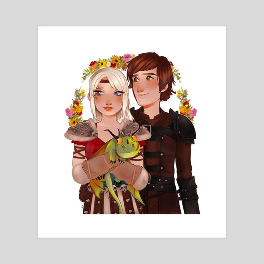 Astrid & Hiccup by Anna Rosenkrans Birkedal