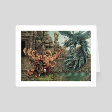 Bellerophon Encounters the Peryton - Art Card by Tom Kilian
