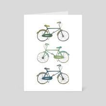 Bicycles - Art Card by Toshiki Nakamura