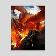 Red Dragon - Canvas by Kekai Kotaki