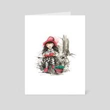 Book girl - Art Card by Clara Pinta