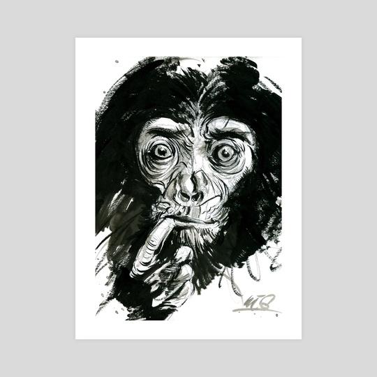 little monkey by Simone ( Nigraz ) Pontieri