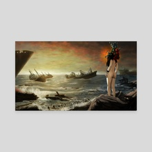 The Reluctant Siren - Canvas by Matthew Riley