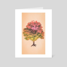 a tree - Art Card by drewmadestuff