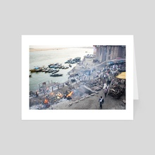 "Manikarnika Ghat aka ""Burning Ghat"" #2 - Art Card by Amir Krieger"