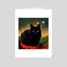 black cat - Art Card by Maxim G