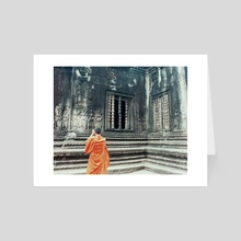 Monk @ Angkor Wat - Art Card by Jade Miller