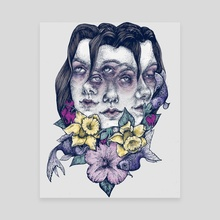 Portrait Blue - Canvas by Corinne Elyse
