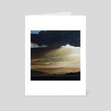 Evening sunbeams - Art Card by Nigel Stewart