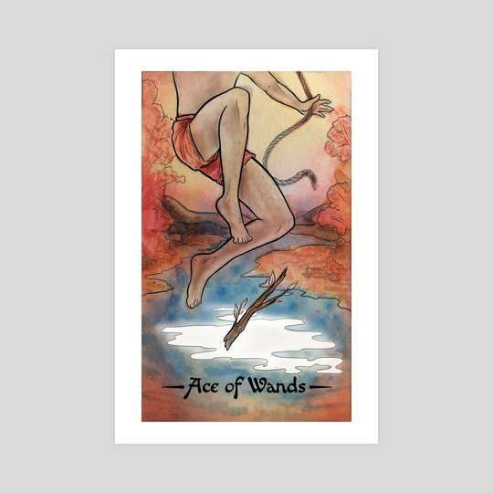Raconteuse Tarot: Ace of Wands by Cas Loll