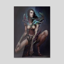 Demoness - Acrylic by Timofey Razumov