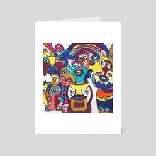 Surprise Party - Art Card by Brad Franco