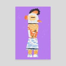 Rooster Kachina Doll - Canvas by Einav Vaisman