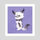Ghost Cat - Art Print by Olivia Chin Mueller