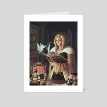 Melorelog Painter of the Poems - Art Card by Achraf Elouazouzi