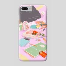 Usagi's School Bag - Phone Case by Meg Metzger