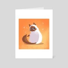Grumpy Kitty - Art Card by Ffion Evans