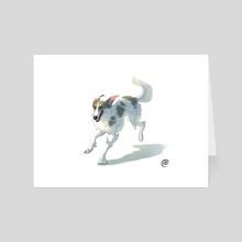 Dog Series-Borzoi - Art Card by Elisa Kwon