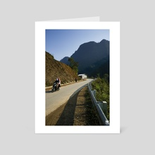 God made the world round so we would never be able to see too far down the road. - Isak Dinesen - Art Card by Parag Phadnis