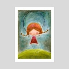 girl - Art Print by Camila Espinosa