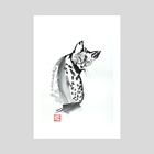 cat leopard 02 - Art Print by philippe imbert