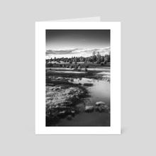 Roadside pond in Northern Arizona - Art Card by Bob Rollar