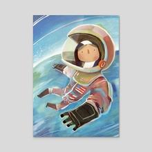 Sally Ride - Acrylic by Ciaran Duffy