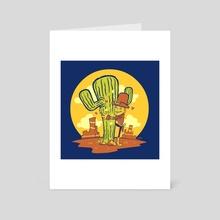 Cactus Hugger - Art Card by Steve Grice