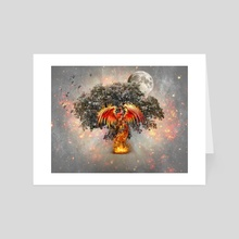 Burnt ground. - Art Card by Tamara Kos