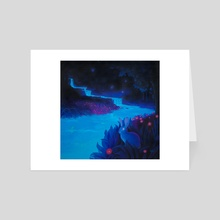 Moonless Night, Shining Bright - Art Card by Dana Thomas