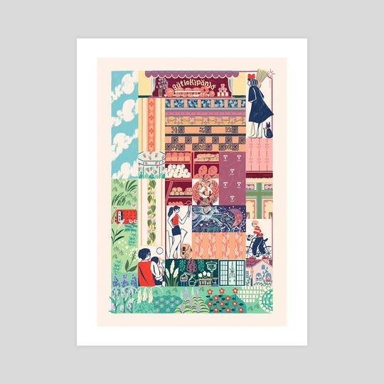Kiki's Delivery Service Tapestry by Gianne Encarnacion