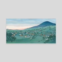 Song for a Summer Night _ Town - Canvas by Qin Leng