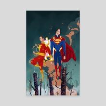 Lightning & Steel - Canvas by Nicolas Rix