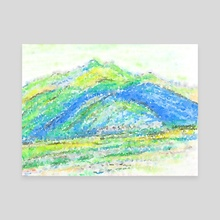 Quiet Korean Mountains - Canvas by Lesley Kim