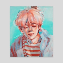 Jimin 'Melancholy' - Canvas by Buhuhu Art