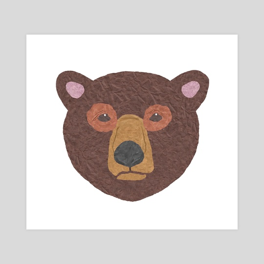 Paper Brown Bear by Lesley Kim
