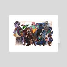 Mighty Nein! - Art Card by Noisyghost