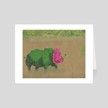 Peaceful Rhinocerose - Art Card by Ashley Hills