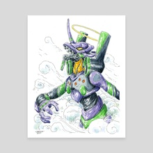 Eva unit 01 - Canvas by John Carvajal