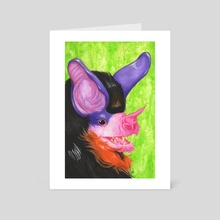 Chiroptera Triptych Part I - Art Card by Zayne LeMeilleur