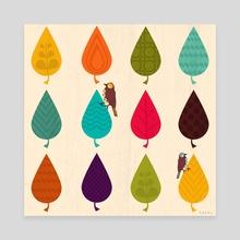 Leaves - Canvas by Kakel